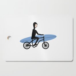 Winter surfer Cutting Board