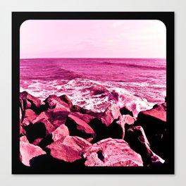 South Jetty Rocks, Sunset Beach, PacificOcean, Oregon Coast Canvas Print