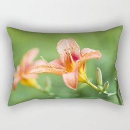 Lilies Of The Field - Orange  Rectangular Pillow