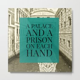 Venice Memories: A Palace and a Prison on each hand Metal Print
