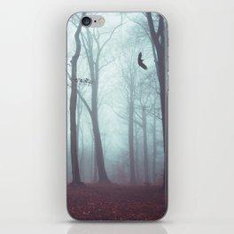 Solstice in Fog - Woodlands in Winter Mist iPhone Skin