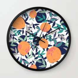 Summer Citrus (White) Wall Clock