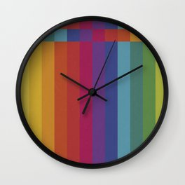 The Color Wheel / Rainbow Stripes Wall Clock