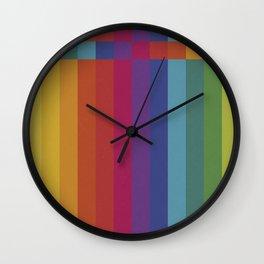 The Color Wheel / Rainbow Stripes Wall Clock