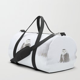 White on white Duffle Bag