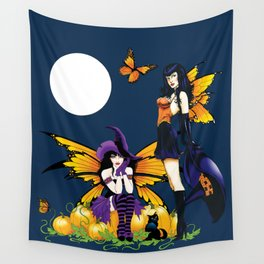 Halloween Fairy Sisters Wall Tapestry