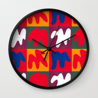 matisse Wall Clocks featuring M for Matisse by CHOCOLORS