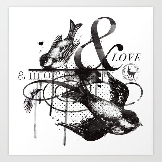 Amore & Love Art Print