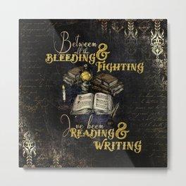 Reading & Writing Metal Print