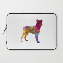 Saint Miguel Cattle Dog in watercolor Laptop Sleeve
