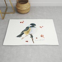 Christmas Chickadee by Teresa Thompson Rug