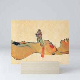 Egon Schiele - Orange knuckles and nipples (new color edit) Mini Art Print