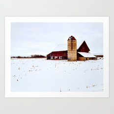 Graffiti Barn Art Print