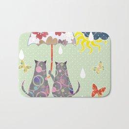 """A series of """" Favorite pillow """".Cats love. Bath Mat"""