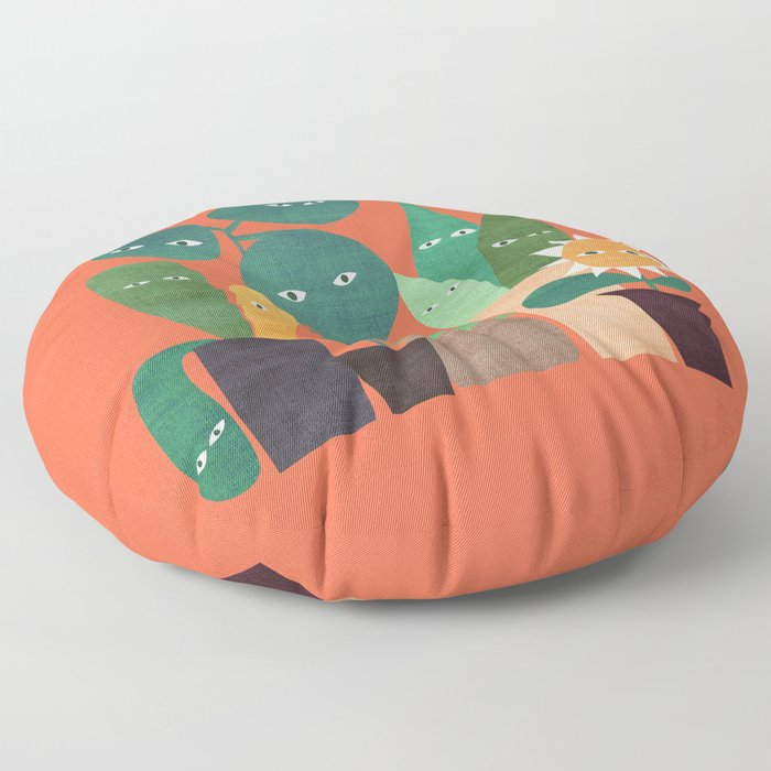 The plants are watching (paranoidos maximucho) Floor Pillow