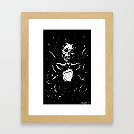 Worship the dark III Framed Art Print