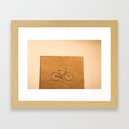 i like to ride my bicycle  Framed Art Print