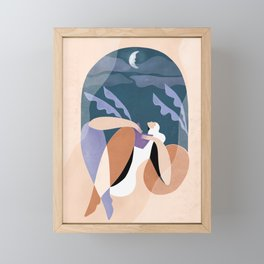 Neither wind nor rain could quench your light Framed Mini Art Print