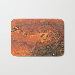 Mars mixed media on canvas, abstract art painting designs, contemporary artist colorful design Bath Mat