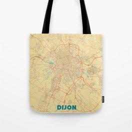 Dijon Map Retro Tote Bag