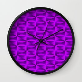 A vibrant grid of shaded rhombuses with intersecting violet diagonal lines and triangles. Wall Clock