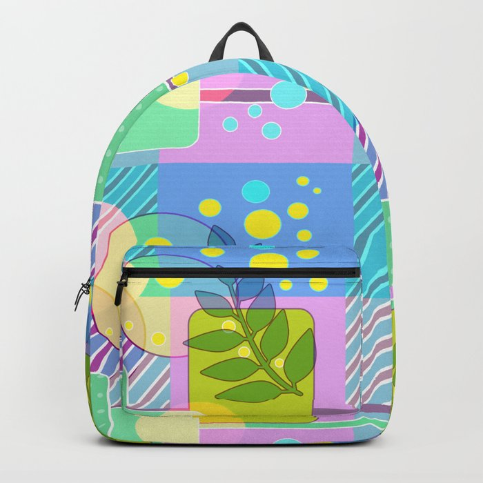An abstract painting .   Good morning! Backpack