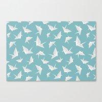 origami Canvas Prints featuring Origami by Albardado