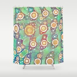 Midori Fizz Shower Curtain