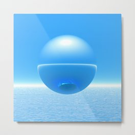 Floating Orb Metal Print