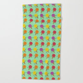 Roses are Rainbow Sorbet Beach Towel