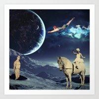 circus Art Prints featuring Circus by Cs025