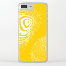 White spirals Clear iPhone Case
