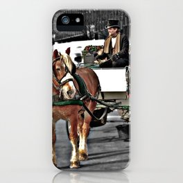 Horse and Carriage Photography iPhone Case