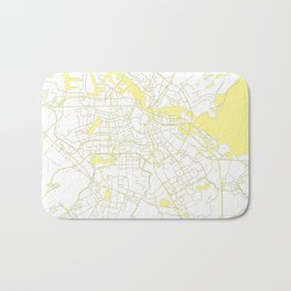 Amsterdam White on Yellow Map Bath Mat