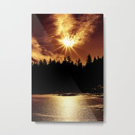 Golden Sun Metal Print