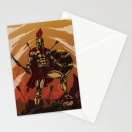 Spartan Warrior Triumphs Over His Enemies Stationery Cards