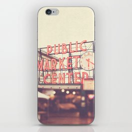 Seattle Pike Place Public Market photograph, 620 iPhone Skin