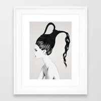 aquarius Framed Art Prints featuring Aquarius by Jenny Liz Rome