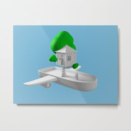 Tree House Boat Metal Print