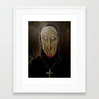 sister Framed Art Prints featuring Sister  by voxxxes