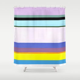 Stripes - Inspired by Light of Iris by Georgia O'Keeffe Shower Curtain