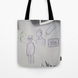 Prince Doodles, on the wall. Tote Bag