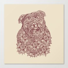 MANDALA OF ENGLISH BULLDOG Canvas Print