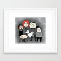 tim burton Framed Art Prints featuring Tim Burton Family Guy by Grace Isabel