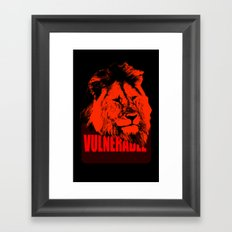 Vulnerable Lion Framed Art Print