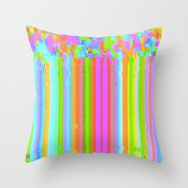 Candy Glitch Throw Pillow