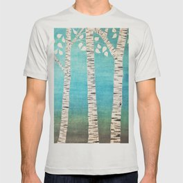 Turquoise birch forest T-shirt