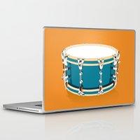 drum Laptop & iPad Skins featuring Drum - Orange by Ornaart
