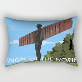 Angel of the North Rectangular Pillow