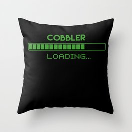 Cobbler Loading Throw Pillow